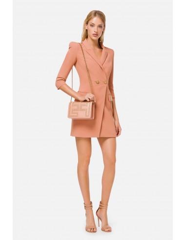 Elisabetta Franchi Dress with lapels and double pocket - altamoda.shop - AB05506E2
