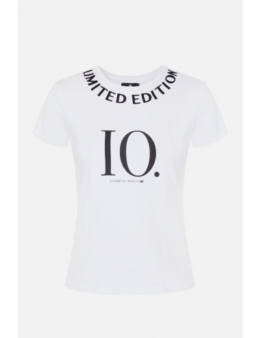 """Elisabetta Franchi Kurzärmeliges T-Shirt mit """"Limitierter Auflage"""" - altamoda.shop - MA17606E2"""