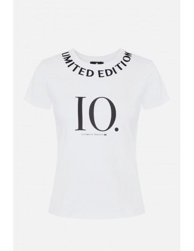 "Elisabetta Franchi Short-sleeved T-shirt with ""Limited edition"" - altamoda.shop - MA17606E2"