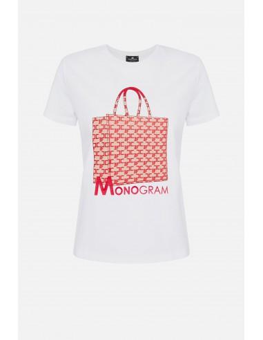 T-shirt met monogramzakjesopdruk