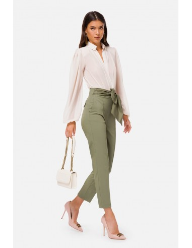 Elisabetta Franchi Trousers with darts and bow - altamoda.shop - PA34406E2