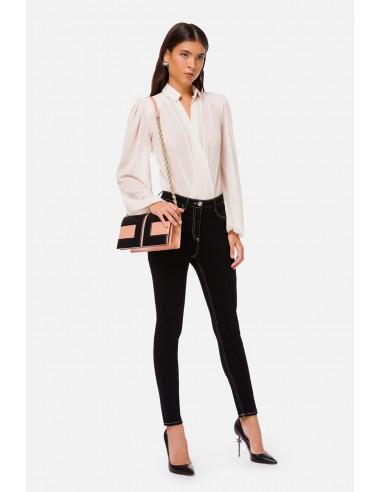 Elisabetta Franchi Jeans delgados con puntadas de contraste - altamoda.shop - PJ78I06E2