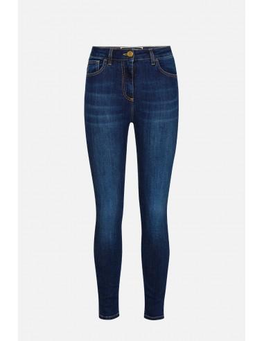 Calças de ganga skinny de cintura alta