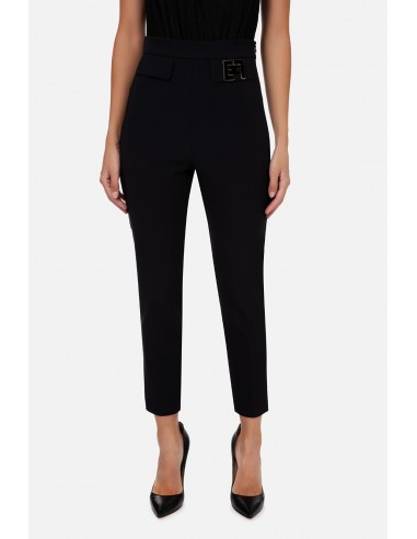 Skinny trousers with embroidery