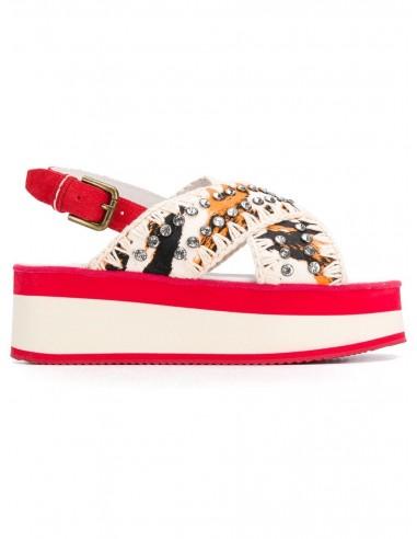 Mou Sandały Criss Cross w kolorze czerwono-zakresowym