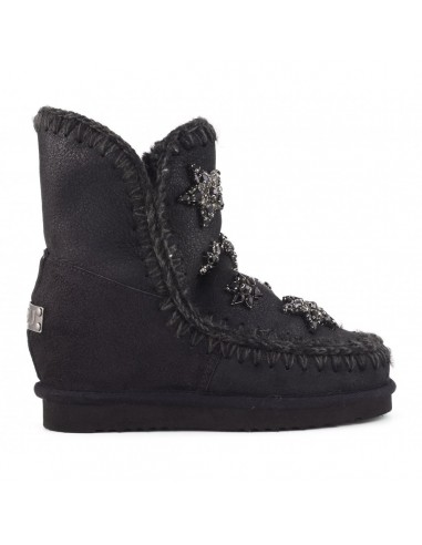 MOU Short Eskimo Boots with Inner Wedge and Crystal Stars - altamoda.shop