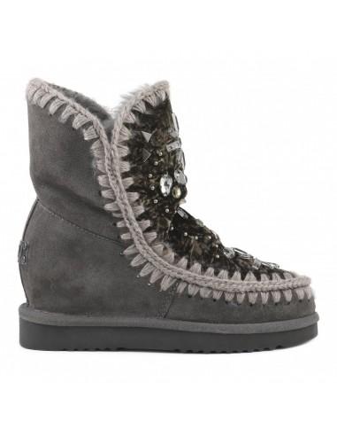 Buty z klinem wewnętrznym, kamieniami i kryształkami - MOU - 8.22_iwshoenewst_vich
