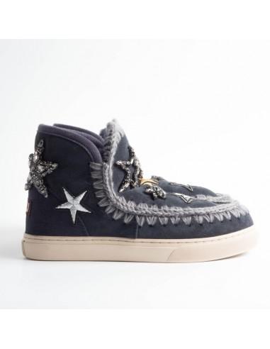 MOU Eskimo Sneaker Stern Aufnähern in Nachtblau - eskisneptc_nblu