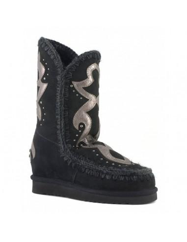 MOU Eskimo Stiefel mit Innenkeil und texanischem Aufnäher - altamoda.shop