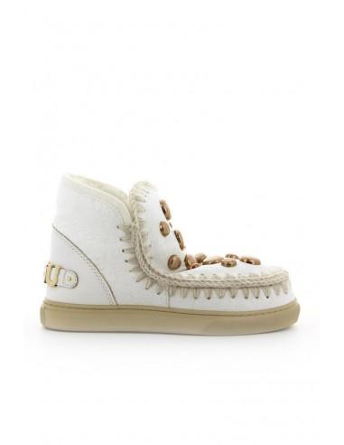 MOU Zapatilla de deporte de cera esquimal blanca - altamoda.shop