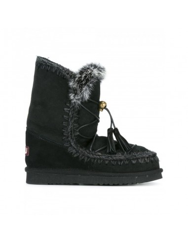 Eskimo Dream Lace Boots in Black - Mou