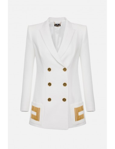 Elisabetta Franchi Zweireiher-Jacke mit Stickereien - altamoda.shop - GI93906E2