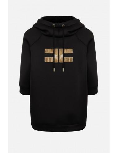Elisabetta Franchi Sweatshirt met capuchon en logo - altamoda.shop - MD04006E2