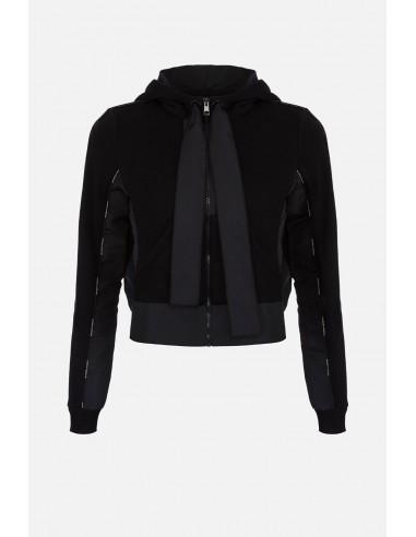 Elisabetta Franchi Kurzes Sweatshirt mit Kapuze - altamoda.shop