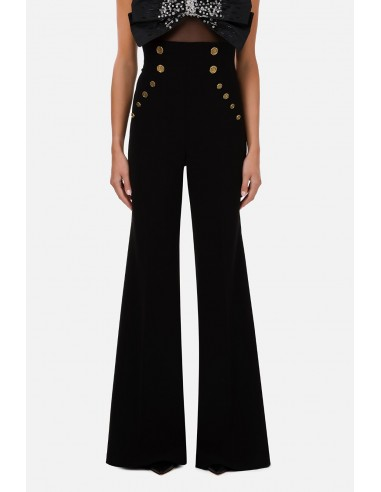 Bell-bottom trousers with gold buttons