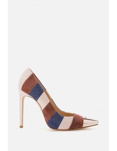 Elisabetta Franchi High Heels mit laminierter Spitze - altamoda.shop - SA07Y06E2
