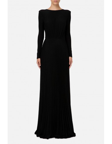 Long pleated dress with slits