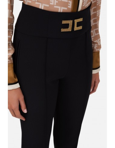 Bell-bottom trousers with logo...