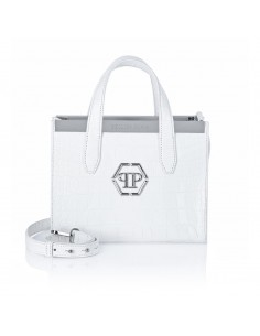 Top Handle Handbag in White from Philipp Plein at altamoda.shop
