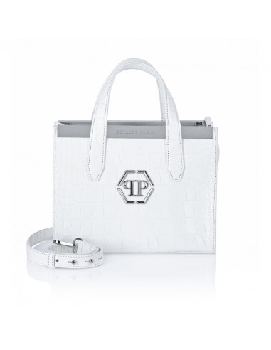 Top-Henkel-Handtasche in Weiß von Philipp Plein bei altamoda.shop