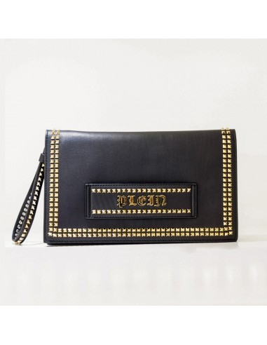 Leather Clutch with Golden Spikes Philipp Plein - altamoda.shop - F18A WBB0207 PLE075N