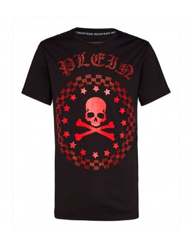 Camiseta de Philipp Plein Calavera con cristales - altamoda.shop - P18C MTK2136 PJY002N 0213