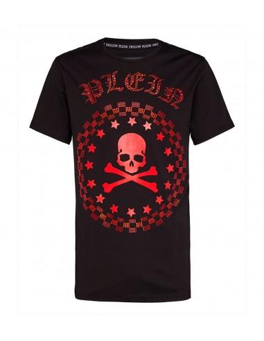 T-shirt Philipp Plein Tête de mort avec cristaux - altamoda.shop - P18C MTK2136 PJY002N 0213