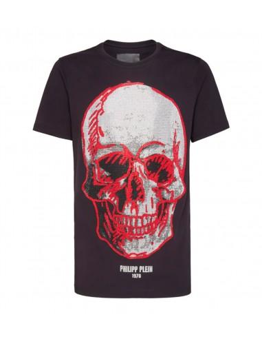 T-Shirt mit grossem Totenkopf Philipp Plein - altamoda.shop - A18C MTK2845 PJY002N