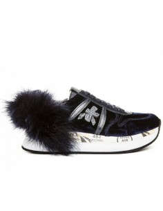 Premiata Sneakers Holly 2565 with Feathers - Blue