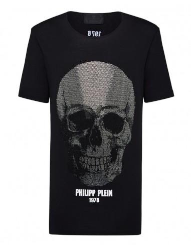 T-Shirt Grote Kristallen Schedel Philipp Plein - altamoda.shop - A18C MTK2751 PJY002N