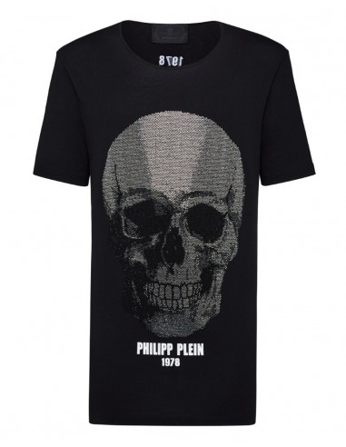 T-Shirt Big Crystal Skull Philipp Plein - altamoda.shop - A18C MTK2751 PJY002N