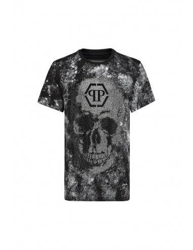 Skull Total Crystals T-Shirt Philipp Plein at altamoda.shop - A18C MTK2675 PJY002N