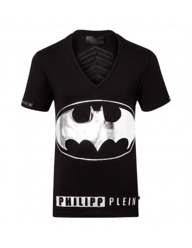 T-Shirt Batman-Zeichen Philipp Plein bei altamoda.shop - FW16HM342728-2
