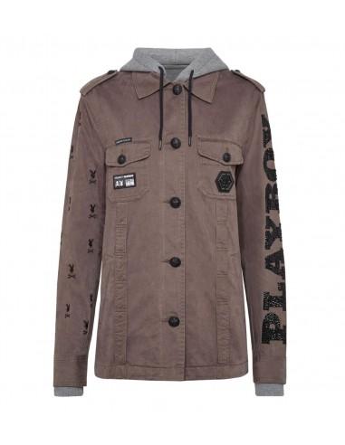 Philipp Plein PLAYBOY Military Jacket at altamoda.shop - A18C WRA0201 PTE003N