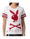 T-Shirt Philipp Plein Playboy White w altamoda.shop - A18C WTK1140 PJY002N