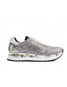 Premiata Sneakers Conny 2585 Silver with Sequins