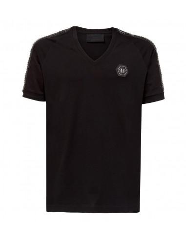 T-Shirt Schwarze Pille von Phlipp Plein bei altamoda.shop - P18C MTK1958 PYX002N
