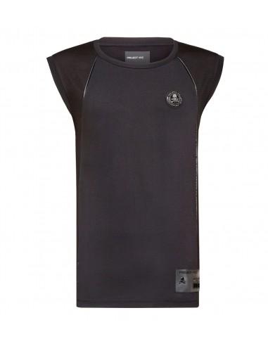 Camisa de tirantes Plein Active Tank Top Shirt XYZ Scratch de Philipp Plein en altamoda.shop - A18C MTK2654 PJY002N