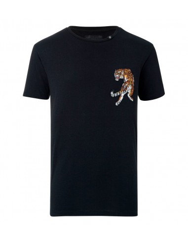 T-shirt Light my Fire with Tiger by Philipp Plein at altamoda.shop - P18C MTK2026 PJY002N