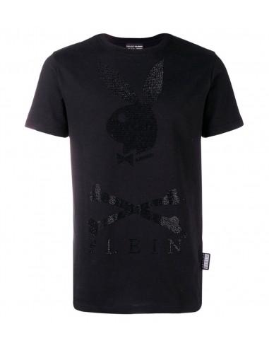 Playboy-Häschen-T-Shirt von Philipp Plein bei altamoda.shop - A18C MTK 2813 PJY002N