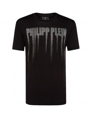 Rock PP T-Shirt z kryształami Philipp Plein w altamoda.shop - A18C MTK2671 PJYO002N