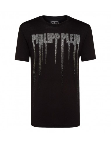 T-Shirt Rock PP com cristais de Philipp Plein em altamoda.shop - A18C MTK2671 PJYO002N