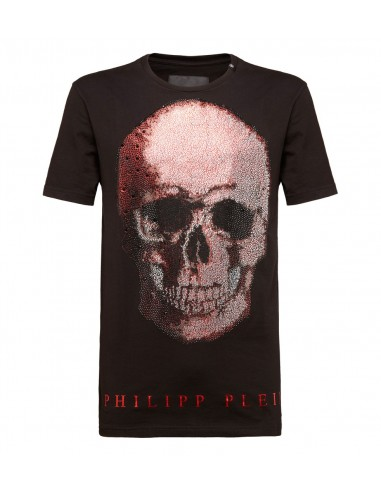 T-shirt com crânio de duas cores de Philipp Plein em altamoda.shop - P18C MTK2117 PJY002N