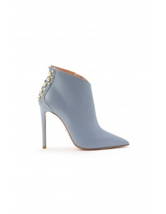 Elisabetta Franchi Leather Boots with Pearls