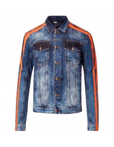Philipp Plein Denim Jacket Tiger Fashion Show op altamoda.shop - P18C MDB0099 PDE001N