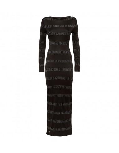 "Robe de jour en tricot Philipp Plein ""Change"" chez altamoda.shop - F18C WKG0177 PKN002N"