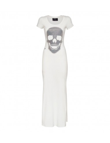 Philipp Plein Dress with Crystal Skull em altamoda.shop - P19C WRG1065 PTE003N