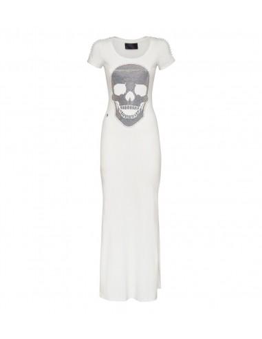 Vestido de Philipp Plein con Cráneo de Cristal en altamoda.shop - P19C WRG1065 PTE003N