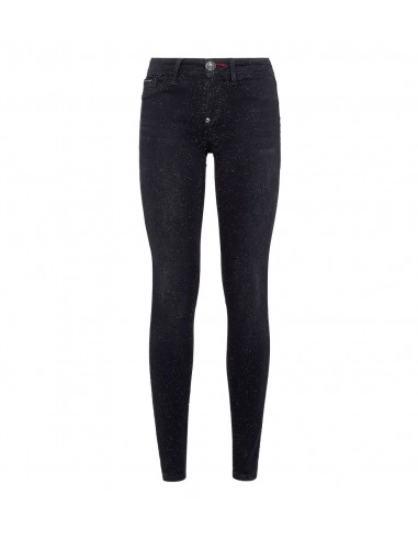 Philipp Plein Jeggings Jeans with fine Crystals at altamoda.shop - P19C WDT1064 PDE004N