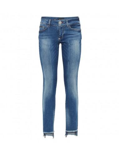 Philipp Plein Jeggings Jeans met fijne kristallen bij altamoda.shop - P18C WDT0655 PDE001N